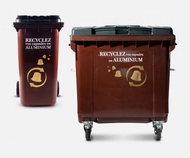 commande conteneur conteneur capsules nespresso collecte de l 39 alu igora. Black Bedroom Furniture Sets. Home Design Ideas